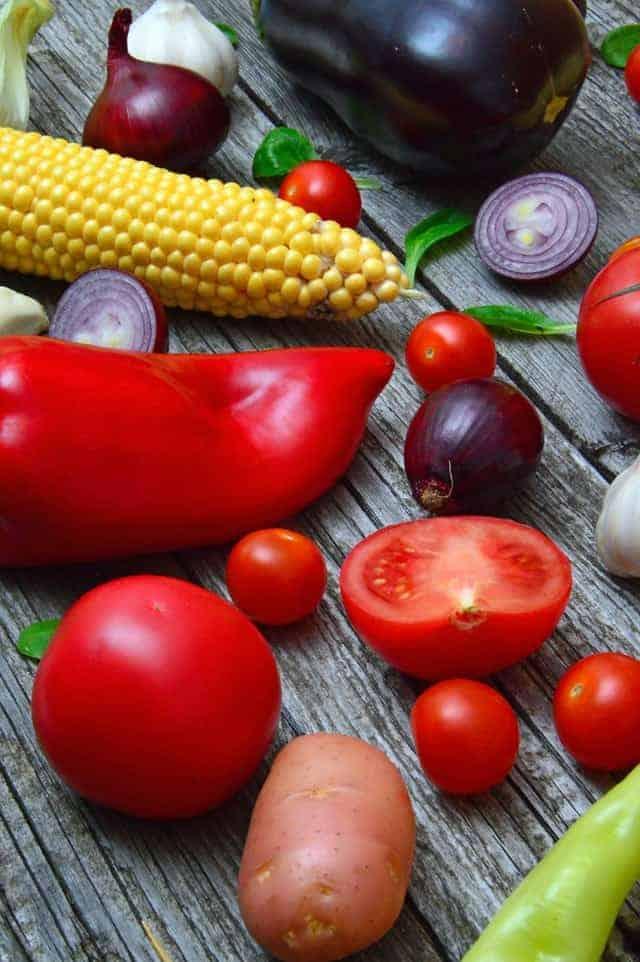 Paprika, Tomaten, Zwiebeln