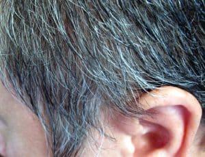 graues Haar