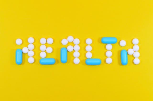 Gesundes Schreiben aus Tabletten und Kapseln