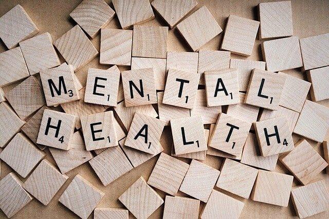 Mental Health Scrabble-Inschrift
